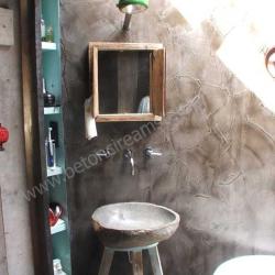 Badkamer met betonstuc (beton ciré)