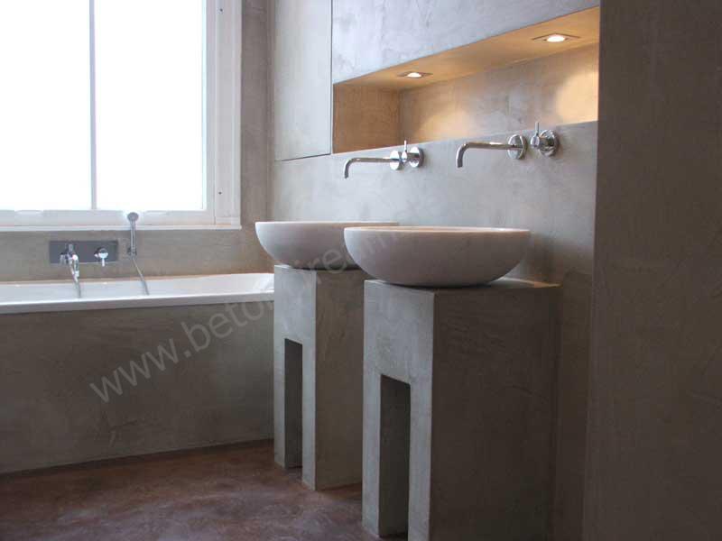 Beton Stucwerk Badkamer : Foto s beton ciré beton stucwerk reitsma badkamers